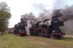 Pociąg z dwoma parowozami Ty2-911 i Ty2-953 na linii Chabówka-Nowy Sącz – FOTORELACJA